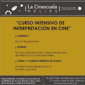 Curso Intensivo de Interpretación de Cine